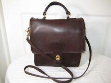 Coach Vtg  Station Bag 5130 Classic Chocolate Leather Satchel Crossbody Purse.