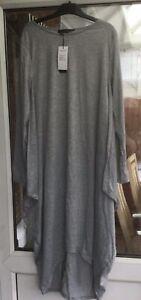 Zanzea Size Medium Light Grey Asymetrical Hem Dress.                   g