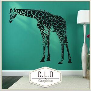 Huge Giraffe Wall Sticker Vinyl Transfer Vinyl African Animal Vinyl Art Decal UK