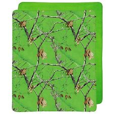 REALTREE APC LIME GREEN CAMO CAMOUFLAGE WEIGHT MICRO MINK SHERPA THROW BLANKET