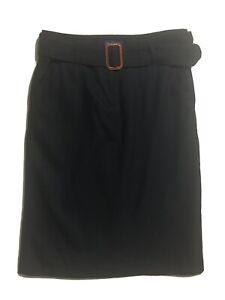 BODEN Women's UK 12 Pencil Skirt Black Wool Stretch Business Warm Autumn Winter