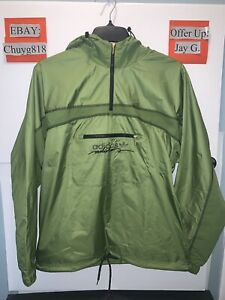 New Adidas Originals BLKOUT WB Windbreaker Jacket Mens Size: Small Olive (Green)
