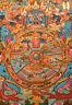 Buddha: Feiner TIBET. THANGKA! WHEEL OF LIFE Lebensrad aus NEPAL 52x41 cm