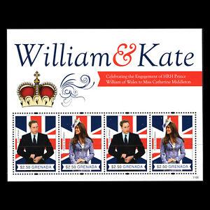 Grenada 2011 - Royalty Engagement of Prince William Kate Middleton - Sc 3800aMNH