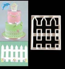 1pc Mini Pickett valla de Plástico Molde Cortador De Galletas Pastelería Cake Topper Reino Unido la venta