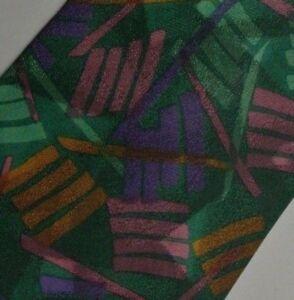 Green Purple Pink Abstract MISSONI Silk Tie