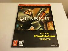 QUAKE 2: PRIMA'S OFFICIAL STRATEGY GUIDE. PS1 - Playstation 1 game guide.
