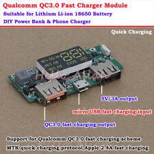 QC3.0 5V 3A USB Li-ion Lithium 18650 Battery Quick Charger Module DIY Power Bank
