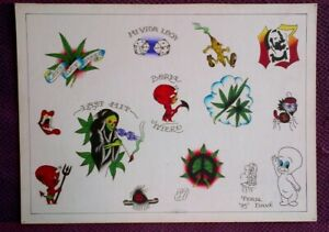 TENNESSEE DAVE - ORIGINAL VINTAGE CLASSIC late-1900s HAND PAINTED TATTOO FLASH