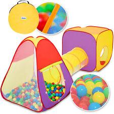 KIDUKU Tienda de campaña para niños infantil con túnel + 200 bolas + bolsa