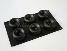 6 Celdas Brownie Cookie Copa Circular cóncavo Bakeware del silicón Pastel Molde Pan Bandeja