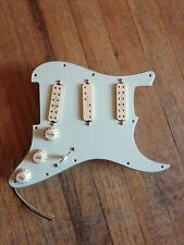 Prewired Strat Pickguard Mint Green Loaded W Seymour Duncan Everything Axe Creme