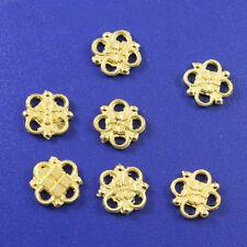 40pcs Gold tone lucky knot connectors h0229