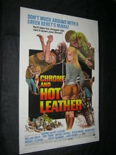 Original CHROME & HOT LEATHER 27X41 O/S WILLIAM SMITH Peter Brown LARRY BISHOP