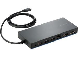 HP USB-C Dual Display Dock with USB-C to USB-A Adapter HDMI DisplayPort