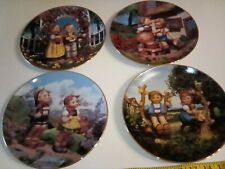Vintage Hummel Collector Plates Little Companions Lot of 4 Danbury Mint numbered