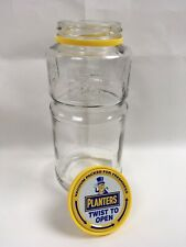Vintage Planters Peanuts Glass Jar Mr. Peanut