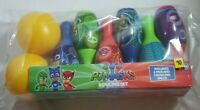 PJ Masks Bowling Set, Ages 2+ Includes 6 Pins and 2 Bowling Balls Brand New!