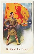 SCOTLAND FOR EVER - E Mack #765 - Charles T Howard - World War One postcard