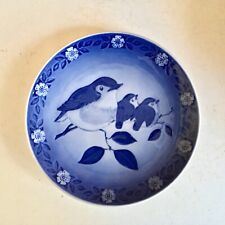 1982 Royal Copenhagen Plate - Mother Robin With Babies - Free Shipping!