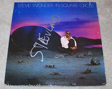 STEVIE WONDER SIGNED AUTHENTIC 'IN SQUARE CIRCLE' RECORD ALBUM LP w/COA PROOF