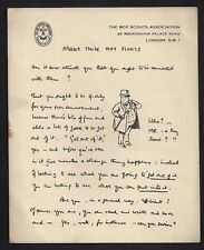 1920 - Boy Scout - Baden Powell - About Those Boy Scouts - Letter - RARE