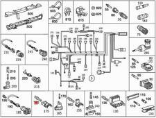 Genuine Mercedes Round Pin Bushing 5pcs  601 611 0015454426