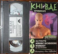 KHI BAE Intermediate Workout (vhs) Silk Manning. VG Cond. Kickboxing. Rare. NR