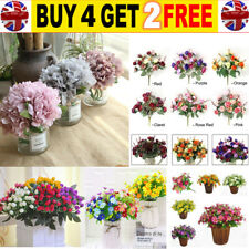 21 Heads Artificial Silk Hydrangea Fake Flowers Bouquet Bunch Party Home Decor