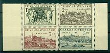 PAYSAGES & BATEAUX - CITY VIEWS & BOATS CZECHOSLOVAKIA 1950 Prague block