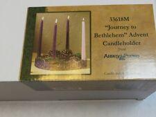 Abbey Press Journey To Bethlehem Advent WreathCandleholder. Includes 4 Candles