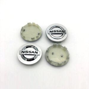 4X 3D 60mm Silver Car Refitting Wheel Center Hub Caps Hubcap for Altima Maxima