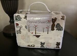 Twin Flannel Sheet Set 100% Cotton Dog Print 3 Piece Divatex Home Fashions Cute