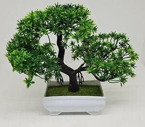 Künstlicher Bonsai in Schale Grün Dekoration NEU