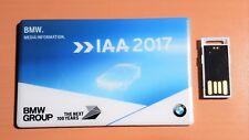 BMW Pressemappe IAA 2017 mit USB Stick Scheckkarten Format M5 Z4 X7