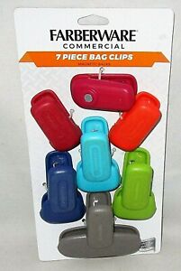 FARBERWARE COMMERCIAL ALL--PURPOSE MAGNETICBAG CLIPS 7 Piece - Assorted Colors
