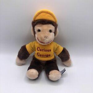 """Eden Toys Curious George Plush 11"""" Yellow Shirt 1984 Vintage Monkey Stuffed Toy"""