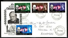 Bahamas 1966 Churchill Commemoration    First Day Cover SG.267/270