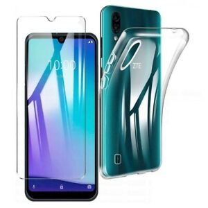 For ZTE BLADE A5 2020 CLEAR CASE + TEMPERED GLASS SCREEN PROTECTOR SHOCKPROOF