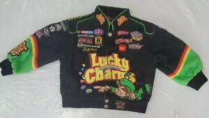 JH Design Lucky Charms Kids Toddler 3T Corduroy Jacket Nascar 43 Richard Petty
