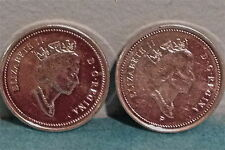 ^^ 2001 ^^ - 5 Cent - Canadian Nickels - Two different Varieties