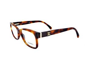 New Chanel CH 3246Q c. 1295 Havana Quilted Leather Eyeglasses Frames 53mm Italy