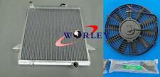 For Triumph TR6 1969-1974 TR250 1967 1968 Manual Aluminum Radiator+Fan