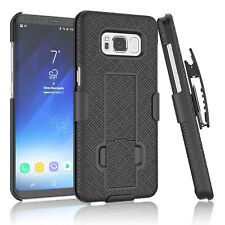 SAMSUNG GALAXY S8 SLIM SHELL HOLSTER BELT CLIP COMBO CASE COVER WITH KICKSTAND