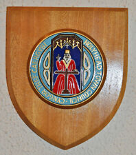 Holyhead Town Council wall plaque shield crest coat of arms