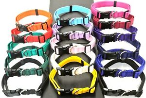 Dog Collar Adjustable In Various Colours 20mm 25mm Cushion Small Medium Large