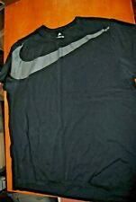 The Nike Tee Shirt Black with Grey Swoosh Size 2Xl