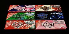 6 Packs Sampler JUICY JAY'S Different Flavors 1 1/4 Cigarette Rolling Papers