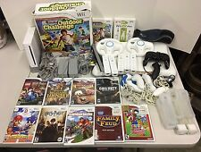 Nintendo Wii Console Games Remotes Controller Outdoor Challenge Fit Plus Lot