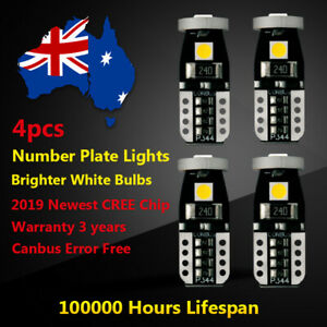 4x LED Number Plate Light For Holden Commodore VE 2007 2008 2009-2013 White CREE